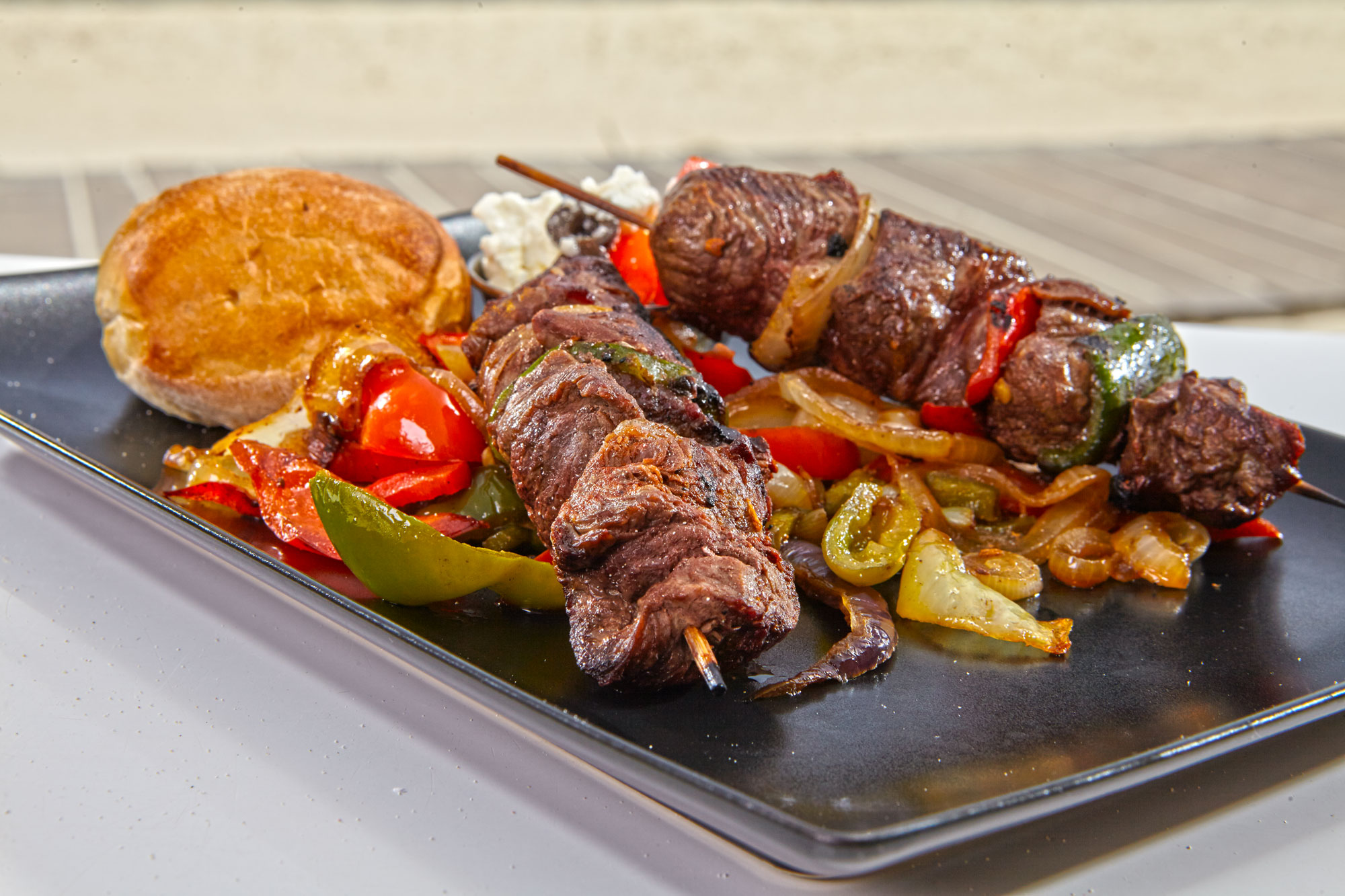 Greek Beef Tenderloin Kabob